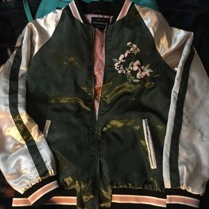 🍓HP🌺 Haute Monde Satin Embroidered Jacket